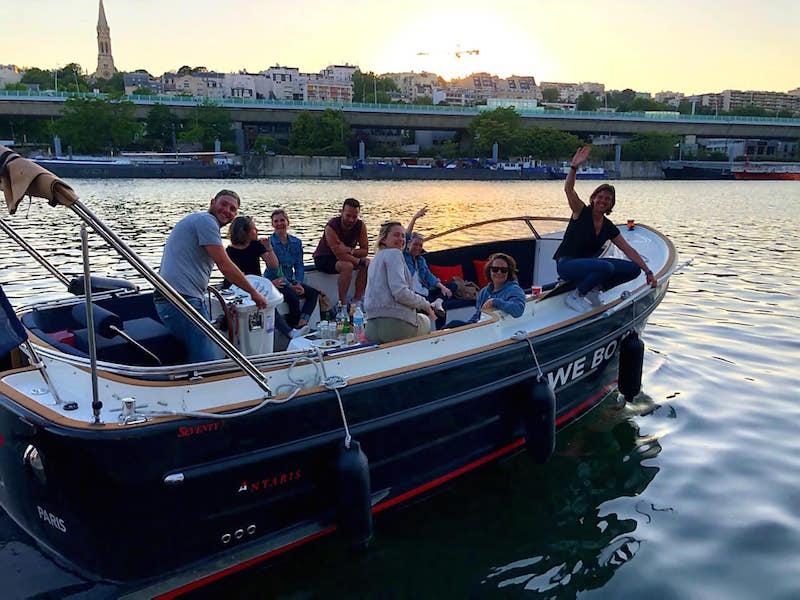 WeBoat, balade apéro, bateau privé, Seine, Mariage, EVG, EVJF
